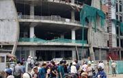 3 công nhân rơi từ công trình xây dựng xuống đất trọng thương