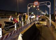Đi xe máy tông dải phân cách 'cản ôtô' trên cao tốc, nam thanh niên tử vong