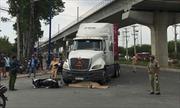 'Hung thần' container tông xe máy, 2 người thương vong