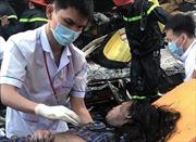 Giải cứukịp thời một gia đình trong căn nhà cháy tại TP Hồ Chí Minh
