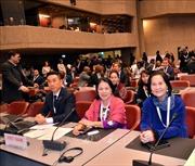 Đoàn lãnh đạo Hội Chữ thập Đỏ Việt Nam tham dự ĐHĐ Hiệp hội Chữ thập Đỏ