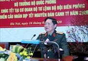 Bộ trưởng Ngô Xuân Lịch thăm, chúc Tết cơ quan Bộ Tư lệnh Bộ đội Biên phòng