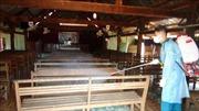 Huyện biên giới tỉnh Bình Phước tăng cường khử trùng tại cơ sở tôn giáo