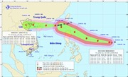 Siêu bão Mangkhut nối đuôi bão số 5 hướng về Quảng Ninh - Nam Định