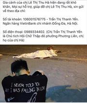 Cộng đồng hỗ trợ gia đình nữ công nhân vệ sinh tử vong trong vụ TNGT tại đường Láng