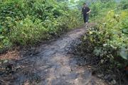 Cơ quan chức năng truy tìm xe đổ dầu thải vào nguồn nước sông Đà