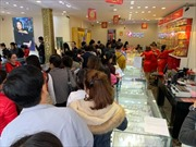 Tan làm cuối ngày vía Thần tài, tiệm vàng toàn dân công sở