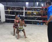 Video gây sốc hai cậu bé 5 tuổi thi đấu Muay Thái đấm nhau túi bụi