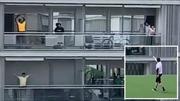 Huấn luyện viên lên mái nhà hướng dẫn người dân tập luyện thời COVID-19