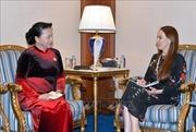 Chủ tịch Quốc hội Nguyễn Thị Kim Ngân tiếp Chủ tịch Liên minh nghị viện thế giới Gabriela Cuevas Barron