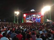 Người hâm mộ Thủ đô đổ xô tới các điểm công cộng xem bóng đá