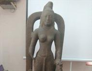 Trưng bày tượng nữ thần Saraswati lần đầu tiên được tìm thấy ở Việt Nam