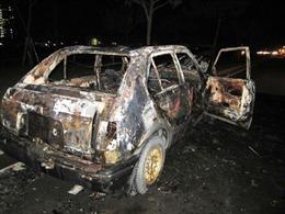 Ô tô Honda Civic cháy rụi