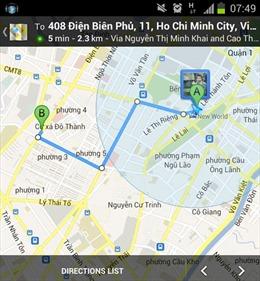 Dịch vụ dẫn đường Google Maps tại VN hoạt động trở lại