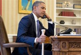 Ông Obama cầm gậy bóng chày điện đàm với Thủ tướng Thổ Nhĩ Kỳ