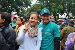 Hoa hậu Ngô Phương Lan chạy vì trẻ em nghèo