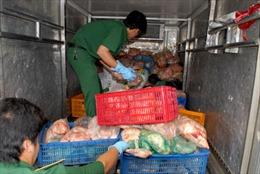 Tiêu hủy hơn 1 tấn thịt gà đông lạnh