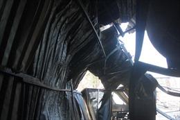 Hỏa hoạn thiêu rụi xưởng đệm mút