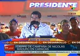 Venezuela kết thúc chiến dịch tranh cử tổng thống