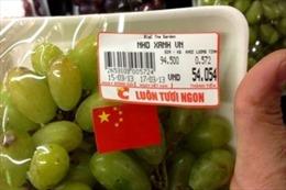 Vụ nho Big C dán cờ Trung Quốc: Chính là nho Ninh Thuận