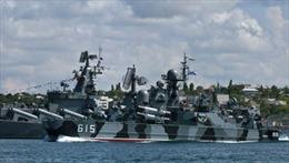 Diễu binh tàu chiến kỷ niệm 230 năm thành lập Hạm đội Biển Đen