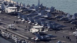 Tàu sân bay lớn nhất thế giới tập trận Mỹ-Hàn