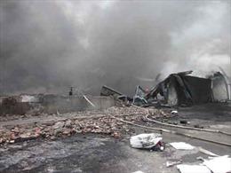 Cháy lớn tại khu công nghiệp Bắc Ninh