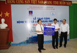PTSC Marine trao tặng trang thiết bị y tế cho Bệnh viện Lê Lợi