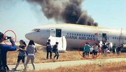 Hành khách máy bay rơi trọng tài sản hơn tính mạng?