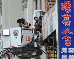 Sập nhà Chinatown New York, nhiều người bị thương