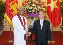 Chủ tịch Quốc hội Nguyễn Sinh Hùng hội đàm Chủ tịch Quốc hội Sri Lanka