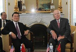 Chủ tịch nước Trương Tấn Sang gặp Chủ tịch Thượng viện Hoa Kỳ