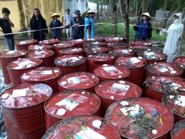 Khai quật chất thải nguy hại tại công ty Thanh Thái