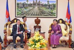 Phó Thủ tướng Campuchia tiếp Tổng Giám đốc Thông tấn xã Việt Nam