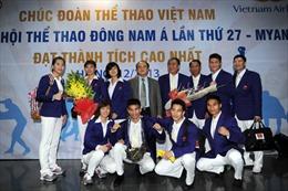 Đoàn thể thao Việt Nam sang Myanmar