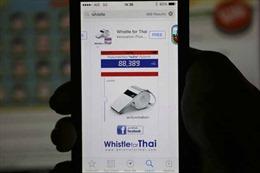 Người Thái Lan mang công nghệ đi biểu tình