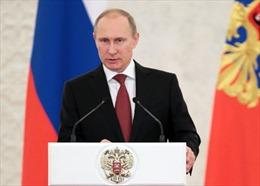 """Tổng thống Putin - """"Nhân vật của năm"""" tại Nga"""