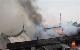 Vĩnh Long: Cháy lớn tại chợ Cái Nhum