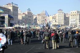 Những hình ảnh biểu tình mới nhất tại thủ đô Kiev
