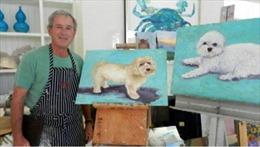 Cựu Tổng thống Bush lần đầu tiên trưng bày tranh