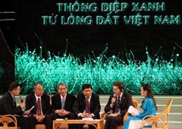 """Giao lưu """"Thông điệp xanh từ lòng đất Việt Nam"""""""