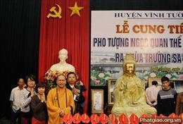 Cung tiến tượng Phật ngọc cho chùa Trường Sa Lớn
