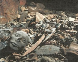Xác ướp 7.000 năm tuổi trồi lên mặt đất