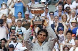 Vô địch Pháp mở rộng, Nadal vẫn là vua sân đất nện