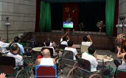 """Trung tâm Thương binh nặng Thuận Thành""""sống"""" cùng FIFA World Cup 2014"""