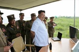 Ông Kim Jong Un chỉ đạo diễn tập pháo binh