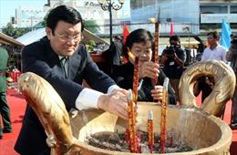 Chủ tịch nước dự lễ kỷ niệm 150 năm Anh hùng dân tộc Trương Định tuẫn tiết