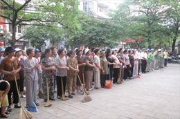 Hàng nghìn người dân Thủ đô tham gia tổng vệ sinh môi trường