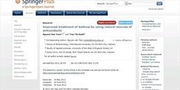 Đại học Quốc tế thông tin về việc bài báo khoa học bị rút khỏi tạp chí Springer Plus
