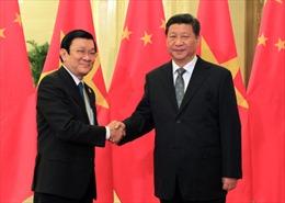 Chủ tịch nước Trương Tấn Sang gặp Chủ tịch Trung Quốc Tập Cận Bình